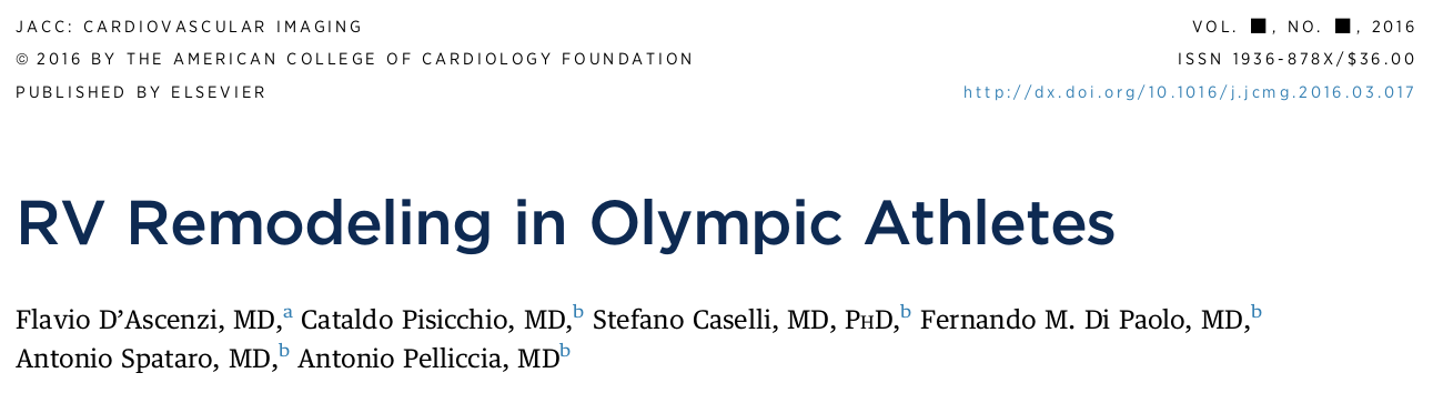 RV remodeling in Olympic athletes