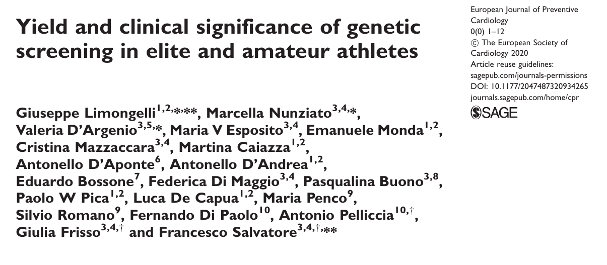 Yield and clinical significance of genetic screening in elite and amateur athletes