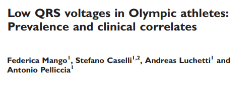 Low QRS voltages in Olympic athletes: Prevalence and clinical correlates