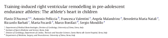 RV remodelling in children