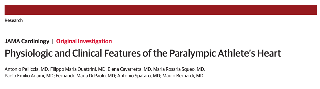 Physiologic and Clinical Features of the Paralympic Athlete's Heart