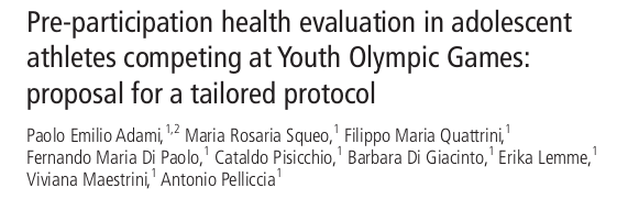 Pre-participation health evaluation in adolescent athletes competing at Youth Olympic Games: proposal for a tailored protocol