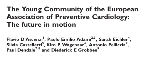 The Young Community of the European Association of Preventive Cardiology: The future in motion