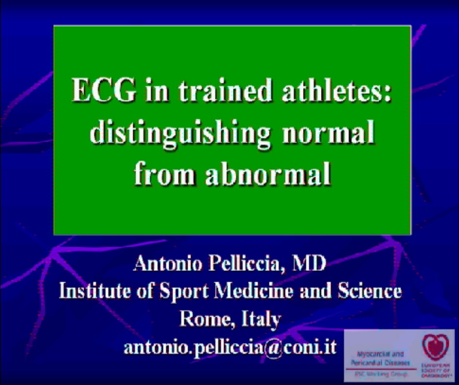 ECG changes in the elite athlete, differentiation of physiological from pathological