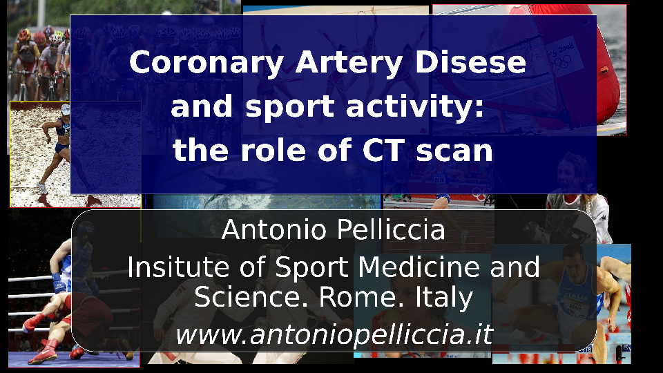 Coronary artery disease and sport activity